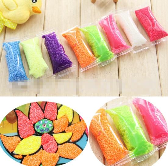 40g/8colors/lot Handmade DIY Soft Polymer Foam Modelling Clay Set Snow Pearl Mud Playdough Educational Plasticine Toys for kids