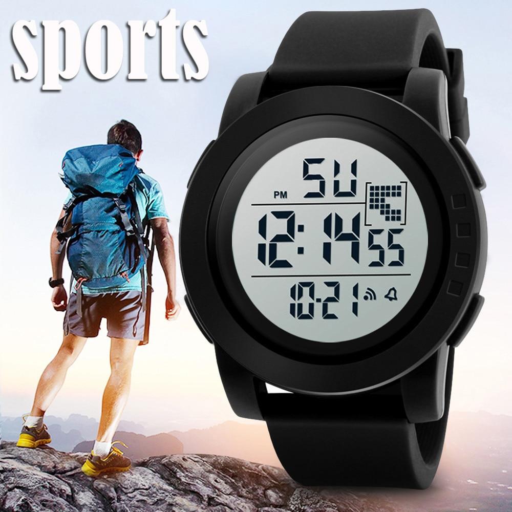 2019 Mode Frauen Sport Uhren Herren Digital Led Elektronische Uhr Mann Militärische Wasserdichte Uhr Männer Masculino GläNzende OberfläChe Uhren Digitale Uhren