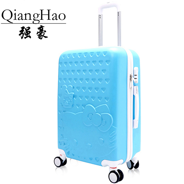 """20""""22""""24""""28"""" Hello Kitty Suitcase Set,Children Women's Lovely KT Luggage,High Quality ABS Travel Bag,Universal wheel Trolley box"""