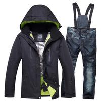 Brand Ski Jacket Pant Men Thermal Winter Snow Ski Suits Man Waterproof Snowboard Clothing Male Skiing Snowboarding Set