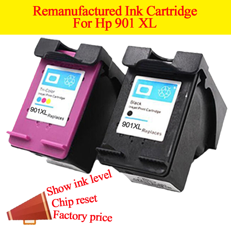 GN 2PK 901 printer ink cartridges Replacement for HP 901 XL