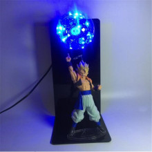 Dropship Dragon Ball Z Action Figure Son Goku Model Night Light Anime Fans Creative Gift Bedroom Study Decoration LED Luminaire