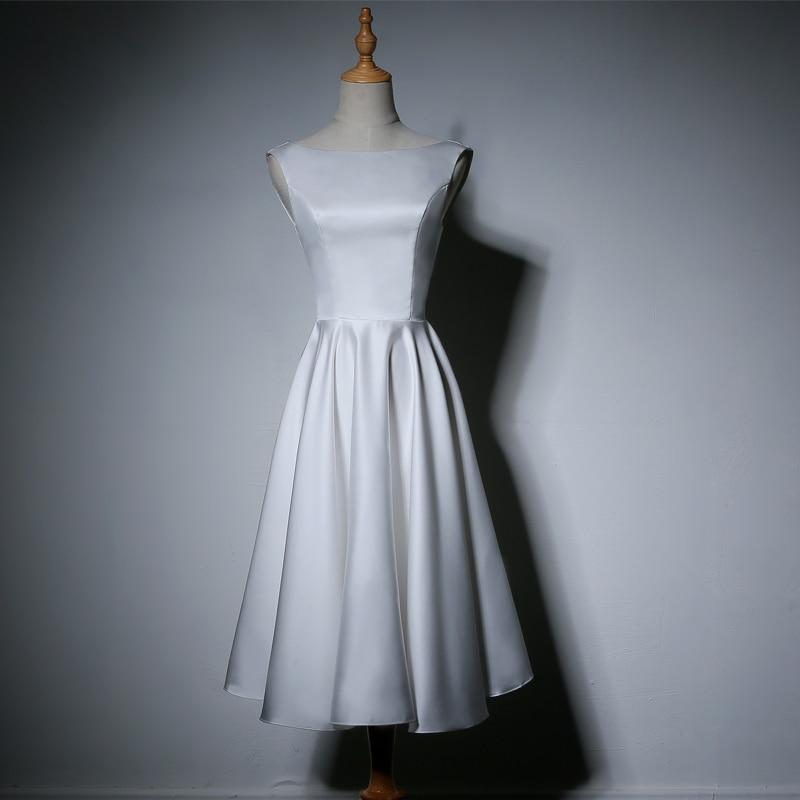 Unadorned Wedding Dress Simple High Lace Up Soft Matte Satin Wedding Elegant Princess Wedding