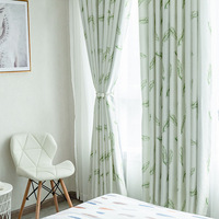 Curtains for Living Room Feather Modern Simple Cationic Jacquard Curtain Fabric Printed Curtain Fabric Feather Shade Cloth