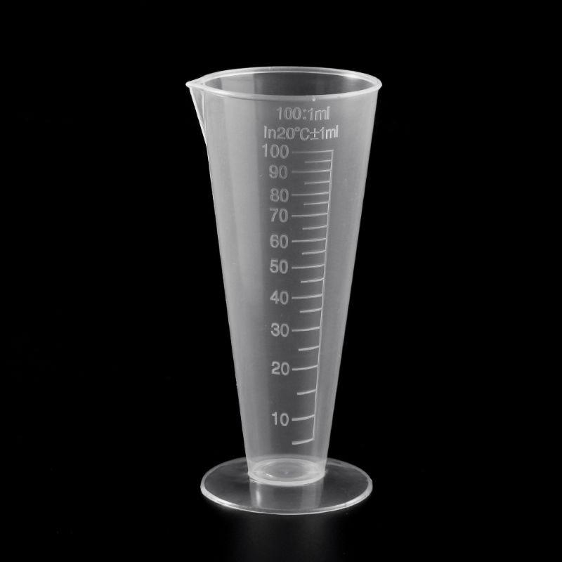 1PC 100ml Laboratory Bottle Lab Kitchen Plastic Measuring Cup Measuring Cup