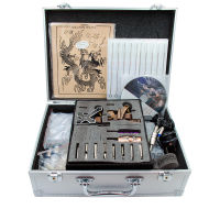 Tattoo Machine Kit with Power Supply and Tattoo Ink and 2 Tattoo Machine Set Tattoo Equipment