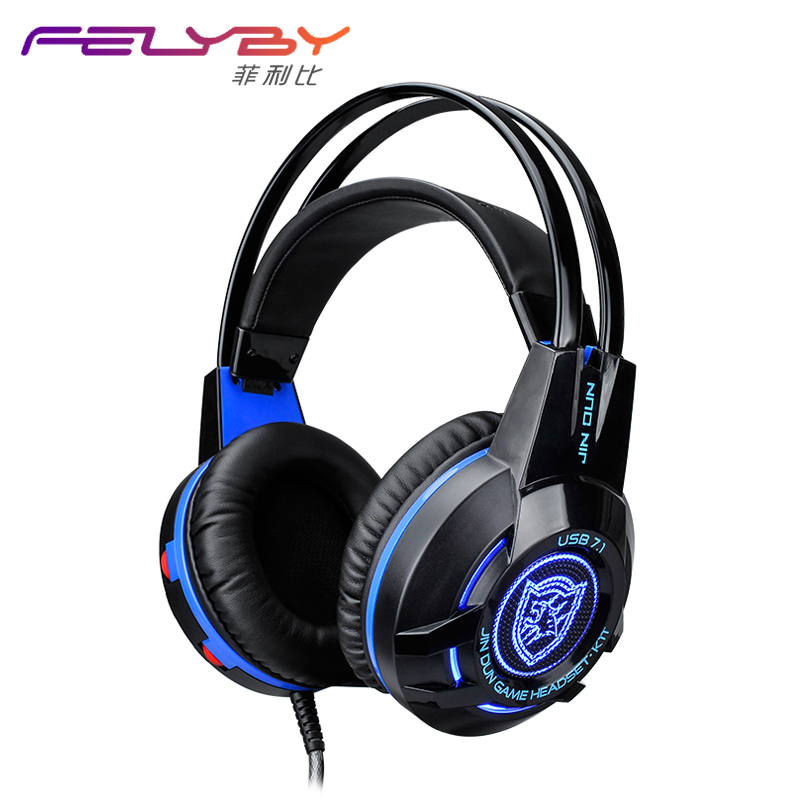 K1T 7.1 USB Surround Sound Gaming Headset Stereo Light Vibration Headband Headphone With Mic For Internet Bar Computer Gamer