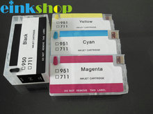 4pcs/set Refillable Ink Cartridge for HP 711 CMYK ink cartridges with chip For HP Designjet T120 T520 pritner цена 2017