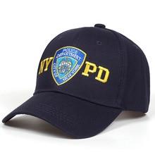 df56de3c5ca LanLoJer 100% Cotton Unisex NYPD New York Police Baseball Cap Men Women Hats