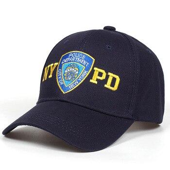 100% nuevo algodón Unisex NYPD Departamento de Policía de Nueva York gorra  de béisbol hombres mujeres gorra Snapback Casual gorras verano al aire  libre ... fdfcf44da24