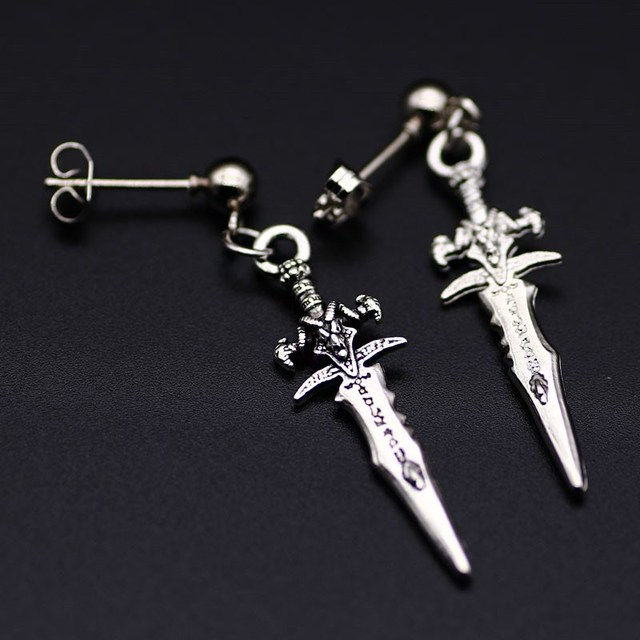 2018 Bts Earrings Single Men S Soul Sword Trend Style Black Fashion Student