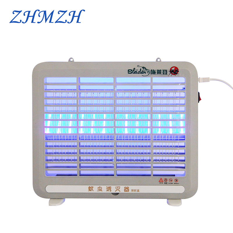 220V Household LED Mosquito Killer Lamp Electric Shock Mosquitos Trap Bug Zapper Insect Killer Light Pest Repeller Kills Flies