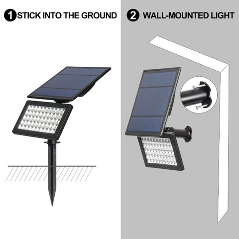 livre 50 led 2 modos luzes parede