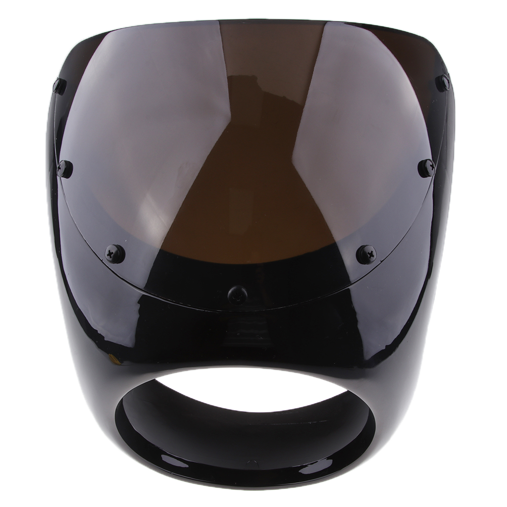 High Quality Universal Motorcycle Retro Front Headlight Fairing Wind Screen For Cafe Racer Black White Red