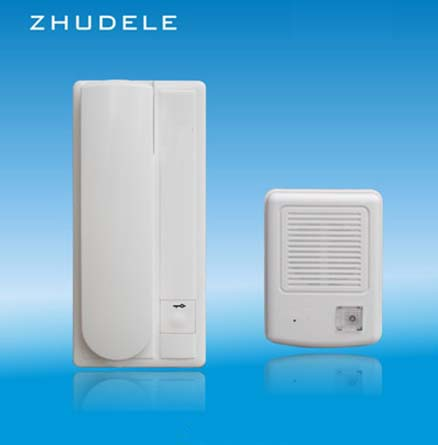 Zhudele Zd-3208 Safe&comfortable Home Interphone Audio Doorbell 2 Wire Audio Intercom System Unlock Function Clear-Cut Texture