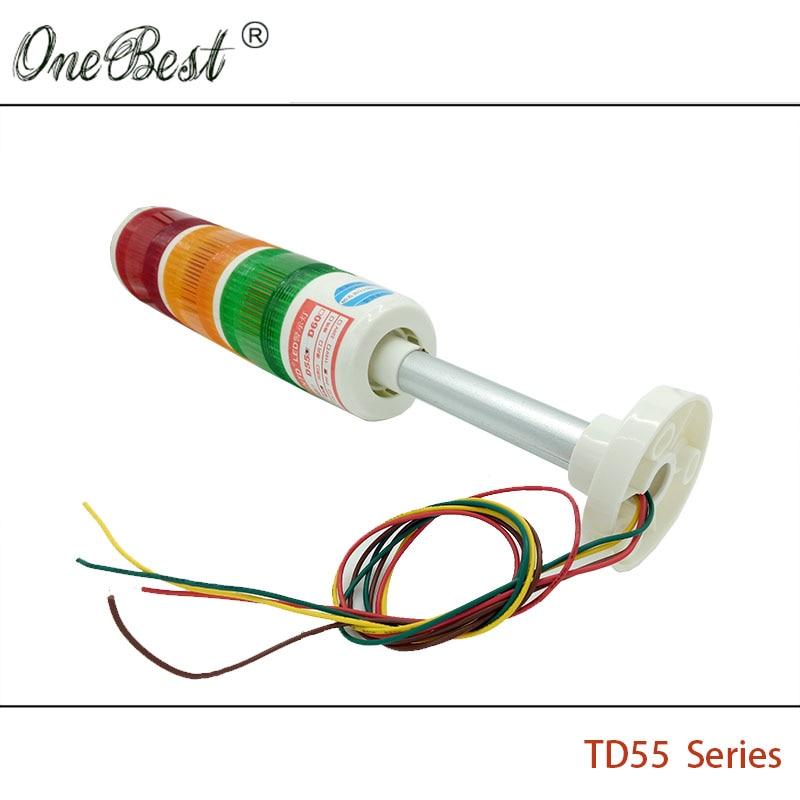 HNTD 24V LED indikator signal Upozorenje Svjetlo TD55 Semafori vrsta - Industrijska računala i pribor - Foto 6