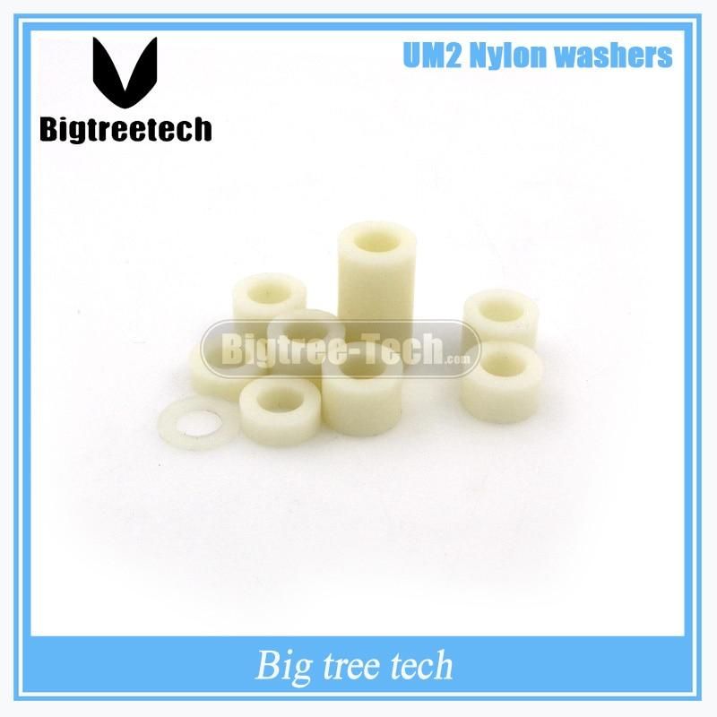 Free shipping 3D printer UM2 Ultimaker2 DIY nylon washers spacer Nylon isolation units 3D0174