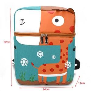 Image 4 - Cartoon Animal School Bag School Backpack For Girls Boy Kindergarten Childrens mochila Kids Bag Orthopedic Satchel