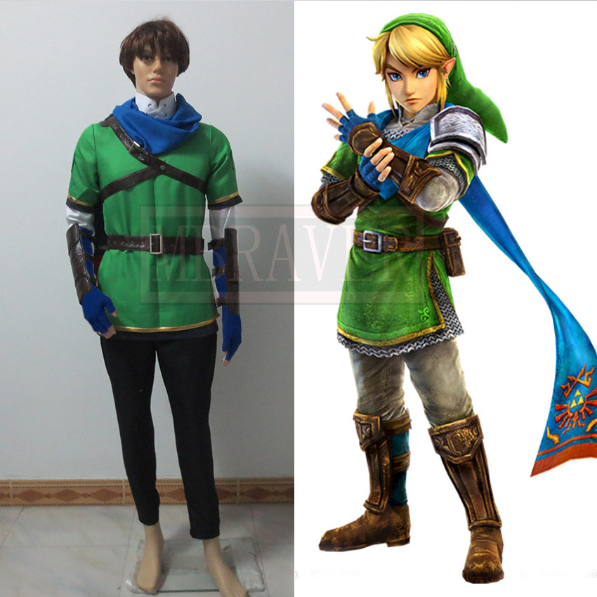 High Quality Japanese Game Skyward Sword Link Cosplay Costume From The Legend of Zelda Cosplay