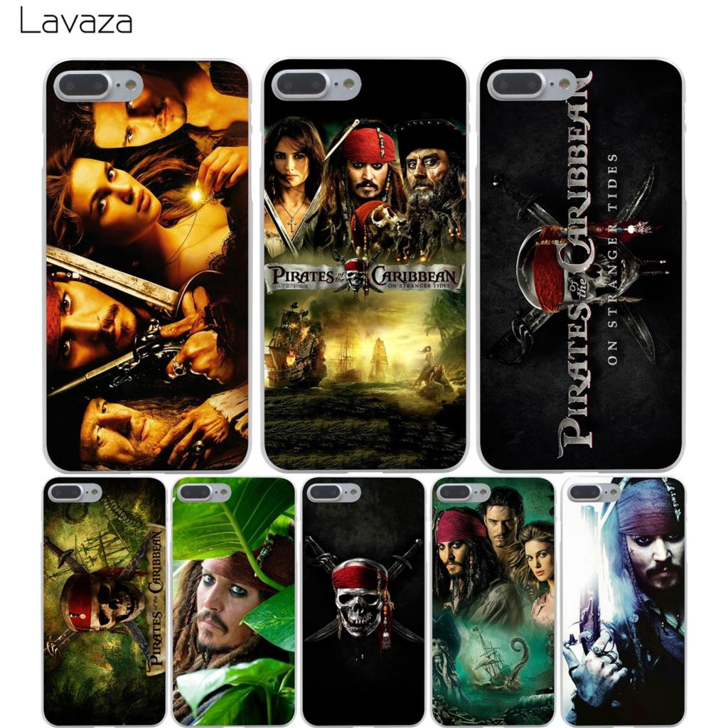 Lavaza Pirates Of The Caribbean Hard Transparent Cover Case for iPhone X 10 8 7 6 6S Plus 5 5S SE 5C 4 4S