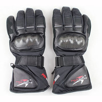 Winter Carbon Fiber Leather Motorcycle Gloves Waterproof Windproof Warm Motocross Racing Motorbike Cycling Glove Guantes Luvas