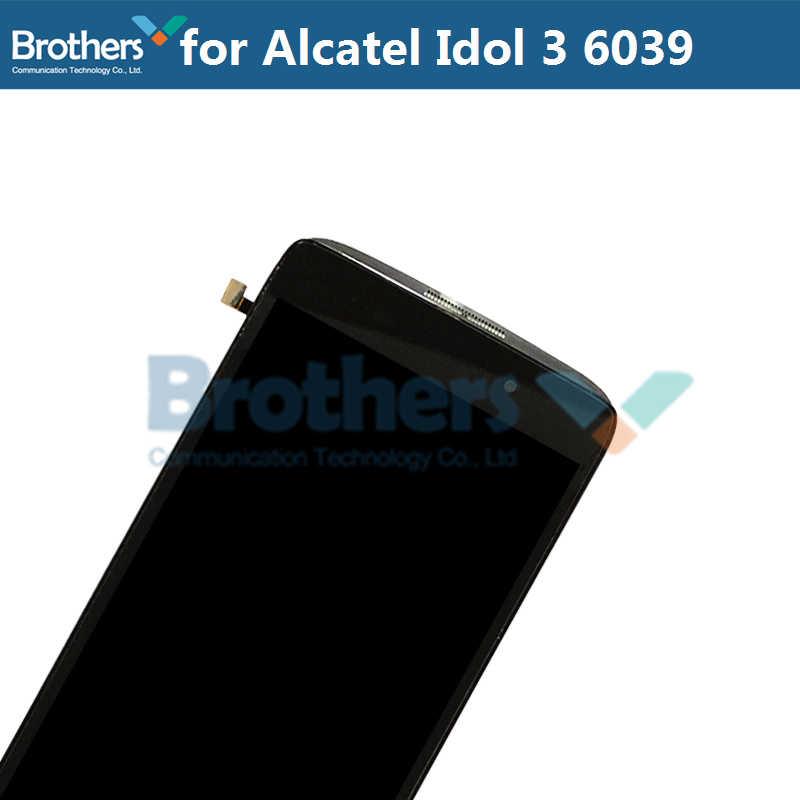 LCD Screen Für Alcatel Idol 3 6039 6039A 6039 K 6039Y LCD Display Mit Touch Screen Digitizer Montage Mit Rahmen ersatz Top