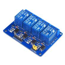 10PCS 4 Channle Relay Module Relay Expansion Board 24V Low Level Triggered 4 Way Relay Module For Arduino