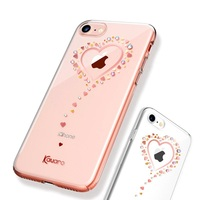 KAVARO For IPhone 7 Case Crystal For IPhone 7 Plus 8 Plus Cover Heart Rhinestone Decor