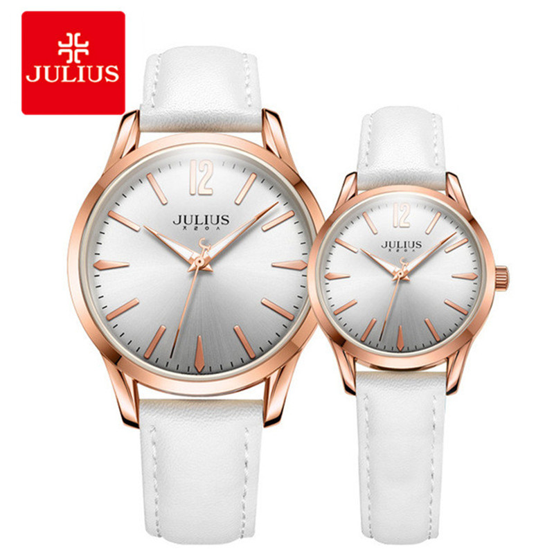 Julius 2018 Spring New Designer Watch Men Women Casual Wrist Whatch Fashion Luxury Brand Time Clock Pair Watch For Couple C1 fashion venetian pearl decoration sunglasses brand designer luxury women round sun glasses shades spring summer style eyewear