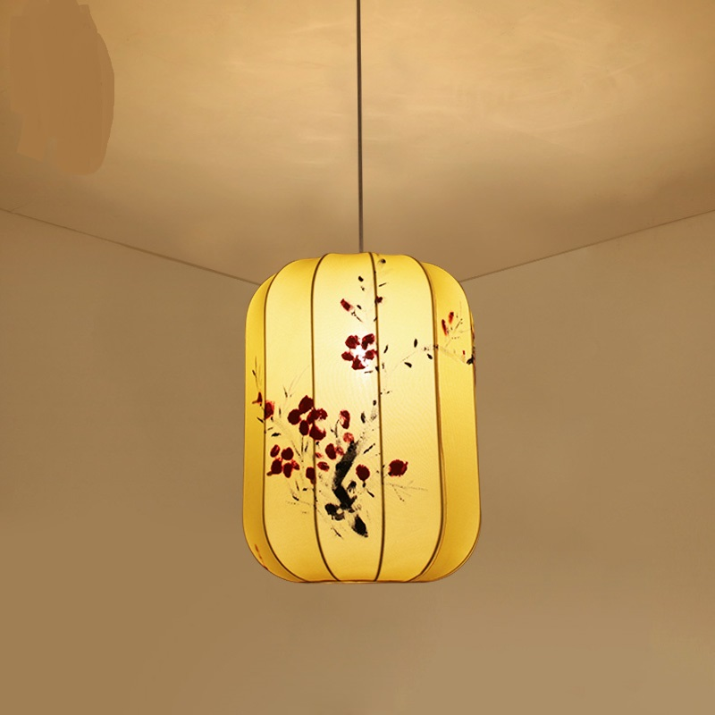 Chinese wind Fabric Pendant Lights Chinese restaurant bedroom antique study lantern  teahouse living room LU80118