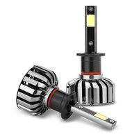 1 Pair Car HeadlightH1 H3 H4 H7 H13 880 9004 HB5 80W 6000K LED Lamp Auto