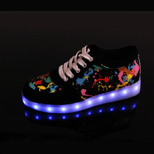 USB Charger Teenage Children Led Shoes For Boy Girls Glowing Sneakers Men Women Light Up Casual Shoes Waterproof Luminous Shoes