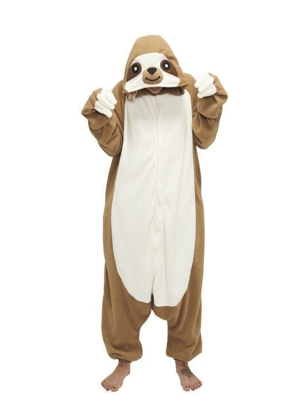 Sloth Kigurumi font b Anime b font font b Cosplay b font Pyjamas Costume Hoodies Adult