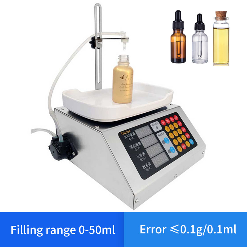 0-50ml Small Automatic CNC Liquid Filling Machine 110V-220V Beverage Milk Perfume Filling Sub-Loading Weighing Filling Machine