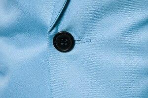 Image 5 - Erkek bir düğme çentikli yaka yeşil Blazer erkekler marka Slim Fit günlük giysi ceket Blazers erkek iş ofis kostüm Homme 2XL