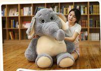 Огромный Прекрасный плюшевая игрушка слон Большой чучело слона подушка кукла около 128 см