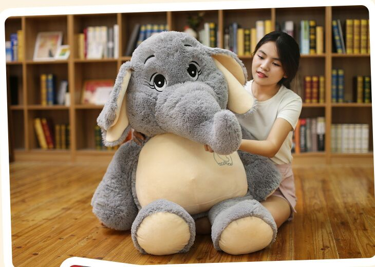 huge lovely plush elephant toy big stuffed elephant doll pillow doll about 128cm the huge lovely hippo toy plush doll cartoon hippo doll gift toy about 160cm pink