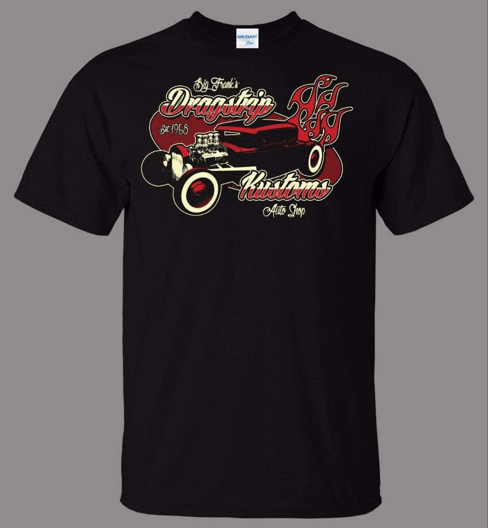 Hombres Camiseta de algodón camiseta de los hombres la ropa grande Franks dripstrip kustoms COCHE Tienda directamente de stock camiseta ocasional