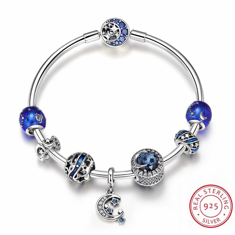 Luxury Brand Bracelet 100% Real 925 Sterling Silver Unique Charms Bracelet for Women DIY Beads Bracelets & Bangles Jewelry Gifts все цены