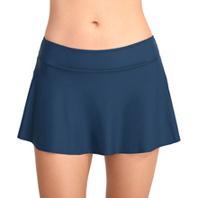 Womens swimwear wild swimsuit solid color simple swimming skirt trunks