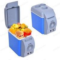Mini 7.5L Voiture Réchauffement Réfrigérateur Garder Au Frais Chaleur Chaud Réfrigérateur Portable Multi-Fonction 12 V Auto Congélateur