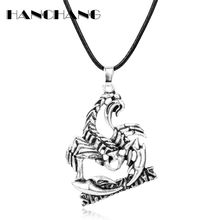 HANCHANG Souvenir necklace Heavy Metal Rock Band Scorpions Necklace Scorpion Pendant Necklace for Man Music Fans Gifts(China)