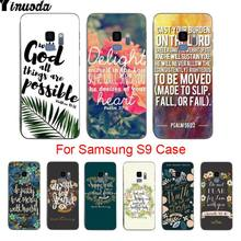 Yinuoda morgen bibel verse Angebot Luxus Vertikale telefon fall Für samsung galaxy s9 plus s7 s6edge s8 plus s5 fall(China)