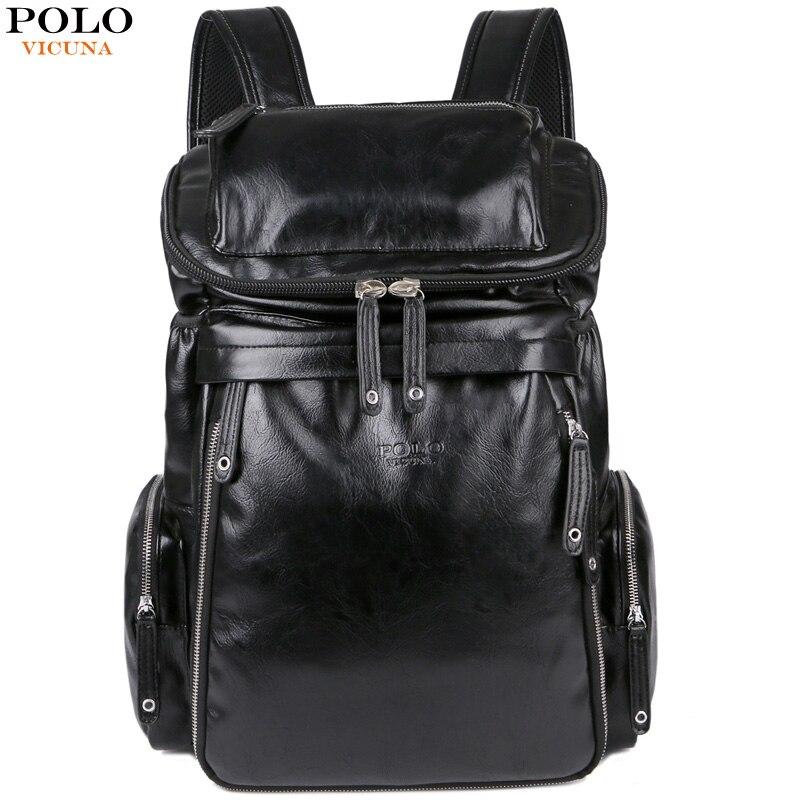 Викуньи поло новое поступление кожаный мужской Школьный Рюкзак Повседневная дорожная сумка для путешествий большой емкости деловой ноутб...
