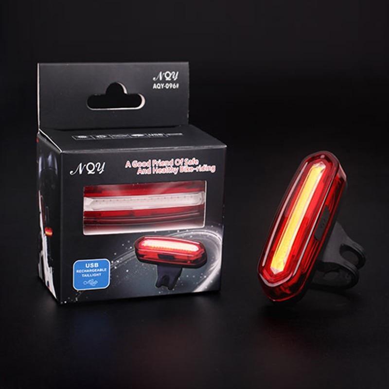 Велосипедный Спорт лампы 100 lm Перезаряжаемые LED USB удара горный велосипед задний фонарь MTB Детская безопасность Предупреждение Велосипедный Спорт сзади Light 2017