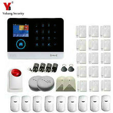 YoBang Security Touch Screen Wireless Home Burglar Alarm System PIR Motion Detector Smoke Glass Detector Outdoor Wireless Alert.