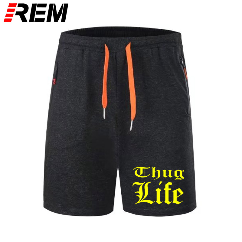 Thug Life Printed Men Scanties Panties Breechcloth Rap Short Hip Hop Tupac 2PAC Men Short Pants Cotton Fashion Hip Hop