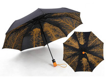 Fully automatic umbrella birch fold open and close double triple windproof large size for both men women free shipping