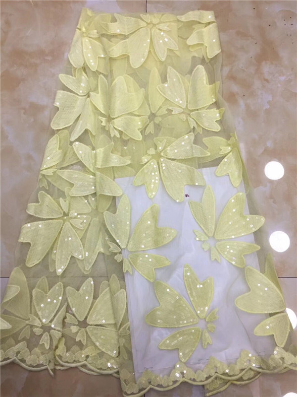 African Sequins Lace Fabric 2019 High Quality Lace Nigerian Lace Fabric Union French Party Net Lace