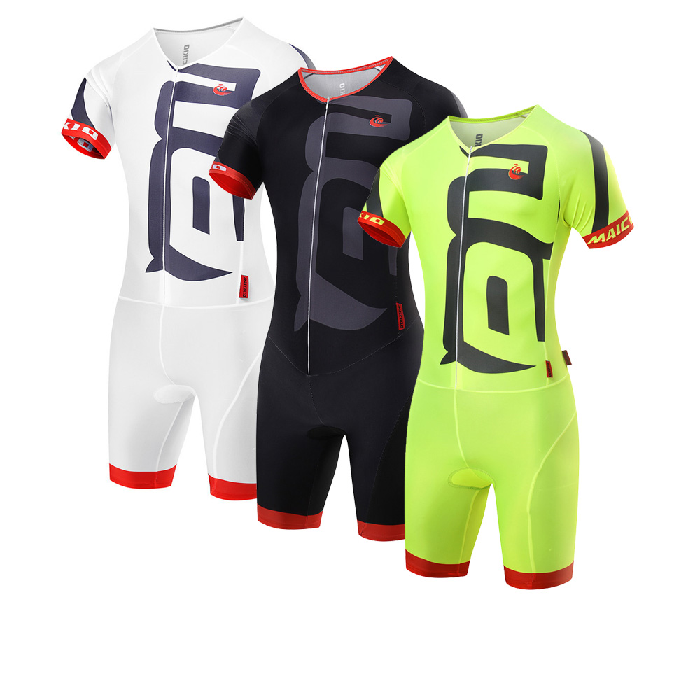Hot Summer cycling jersey Short Sleeve Cycling Skinsuit  Unisex Triathlon invisible zipper tights conjoined cycling jumpsuits cycling jersey 176 hot selling hot cycling jerseys red lily summer cycling jersey 2017 anti shrink compressed femail adequate qu
